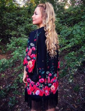 H&M floral fashion kimono