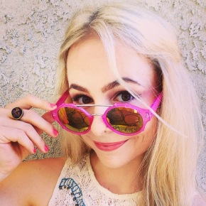 sustainable daisy pink sunglasses